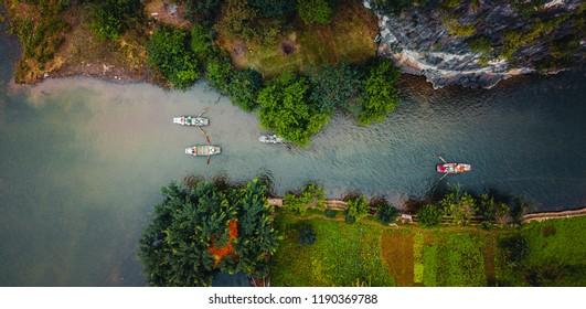 Tam Coc, Vietnam. Asia