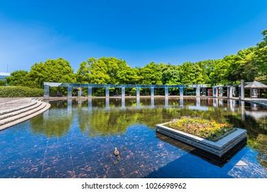 TAMA CITY, TOKYO, JAPAN - MAY 23 2017 : TAMA Central Park.