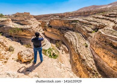 TAMAGHZA, TN - MARCH 17, 2017: Mides Oasis in Tamgahza, near Tozeur in Tunisia