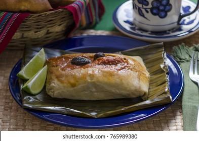 Tamal colorado con sibaque