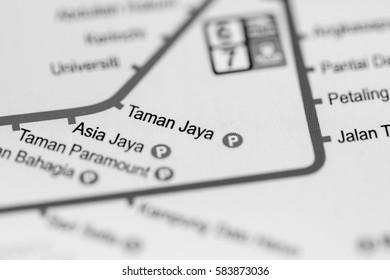 Taman Jaya Station. Kuala Lumpur Metro map.
