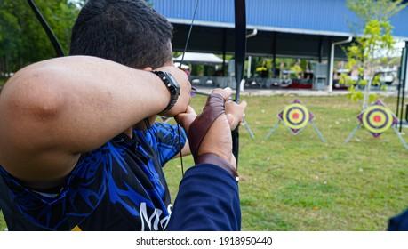 TAMAN RENGGAM JAYA,KLUANG,JOHOR-OCTOBER 8 2020 : Hit the target