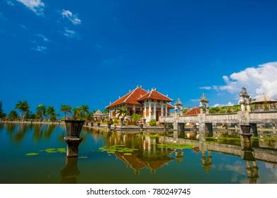 Taman Ujung Temple Bali was located in Karangasem Bali Indonesia