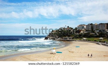 Tamarama beach, Sydney, Australia. A cliff top coastal walk extends for 6 km in Sydney�s eastern suburbs. The walk features stunning views, beaches, parks, cliffs, bays and rock pools.