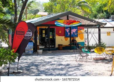 Tamarindo Beach, Costa Rica- February 2020-Selina hostal on a sunny day In Tamarindo Beach, Costa Rica.