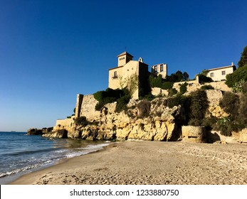 Tamarit Castle, on the beach placed over rocks