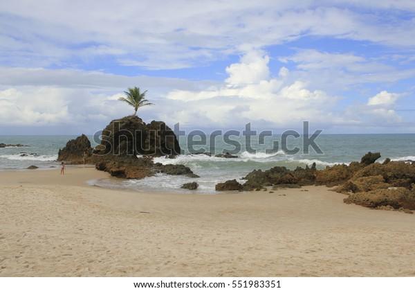 Tambaba Beach Paraiba State Brazil Nudist Stock Photo (Edit Now