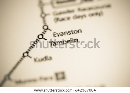 Evanston Subway Map.Tambelin Station Adelaide Metro Map Stock Photo Edit Now 642387004