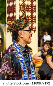 Tambunan, Sabah, Malaysia - May 1 2015: Minister of Tourism, Datuk Seri Panglima Masidi Manjun, joining the opening of Kaamatan 2015