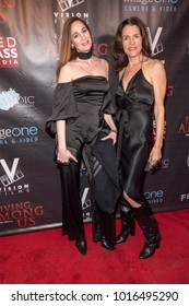 """Tamela D'Amico, Tiffany Downey attend """"Living Among Us"""" Los Angeles Premiere at Laemmle's Ahrya Fine Arts Theatre, Los Angeles, CA on February 1, 2018"""