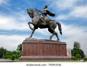 Tamerlane monument in Tashkent