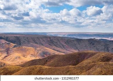 Tamgaly gorge landscape in Almaty region, Kazakhstan