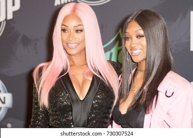 TAMI ROMAN & JAZZ ANDERSON attends the 2017 BET HIP-HOP AWARDS red carpet on Friday, October 6th, 2017 at the FILLMORE MIAMI BEACH AT THE JACKIE GLEAN THEATER - USA