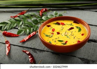 Tamil cuisine- spiced buttermilk or curd curry ,