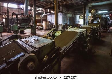 TAMILNADU/INDIA - NOVEMBER 26, 2015: Inside a tea factory in Nilgiri hills, India