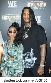 Tammy Rivera and Rapper Waka Flocka Flame attends the red carpet for the Growing Up Hip Hop Atlanta - Atlanta Premiere on May 23rd, 2017 in Atlanta, Georgia at the Woodruff Arts Center - USA