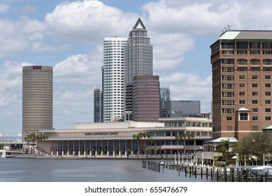 The Tampa Convention Center building on the waterfront downtown Tampa Florida USA. April 2017