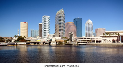 TAMPA - DECEMBER 28: Skyline of downtown December 28, 2011 in Tampa, FL. In 2008, Tampa was ranked as the 5th best outdoor city by Forbes.