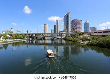 TAMPA, FL - MAY 15: A view of downtown Tampa, Florida on May 15th, 2017. Tampa is one of the largest cities in the US State of Florida.