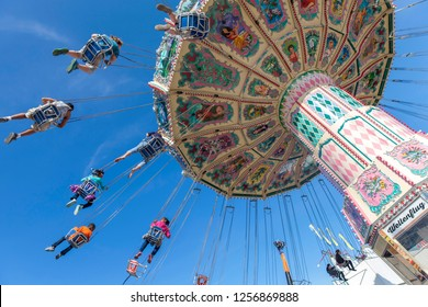 TAMPA, FL, USA - FEBRUARY 15, 2016: Carousel at the local fair in Tampa, FL, USA