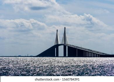 TAMPA, FLORIDA The Tampa Bay bridge in the Tampa Bay