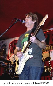 TAMPA, FLORIDA - MARCH 12, 2011: Tim Reynolds, best known as the lead guitarist for the Dave Mathews band, sings at Skippers Smokehouse in Tampa, Florida on March 12, 2011.