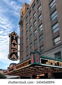 Tampa, Florida - September 22, 2008: Tampa Theatre movie palace