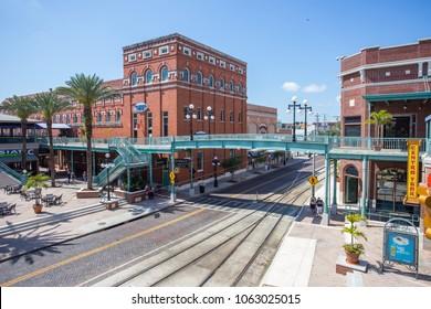 TAMPA, FLORIDA, US - March 11, 2018: Ybor historic district