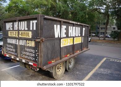Tampa, Florida / USA - May 4 2018: We Haul It Trailer