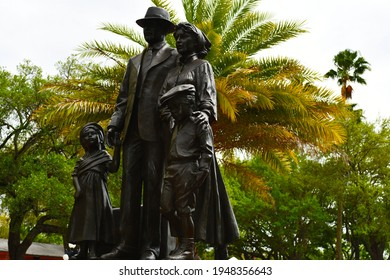 Tampa. March 20 2021: The Immigrant Statue in Ybor City.