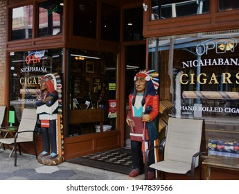 Tampa. March 20 2021: The Nica Habana cigar store.