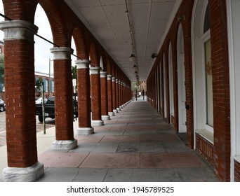 Tampa. March 21 2021: The passage of the El Pasaje Hotel in Ybor City.