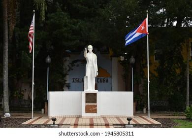 Tampa. March 21 2021: Statue of Jose Marti.