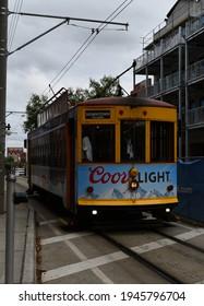 Tampa. March 21 2021: A Tampa streetcar.