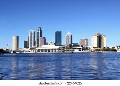 Tampa Skyline Over Hillsborough River