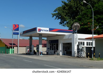 Tamparuli May 21, 2016 : Fuel Station belong to PETRON oil company operate at Tamparuli town pictured on May 21, 2016. The company takeover all Esso retails outlet in Malaysia a few years back.