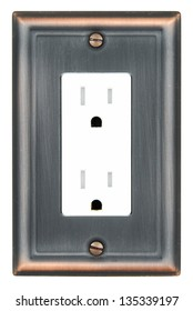 A tamper resistant electric outlet with decorative plate