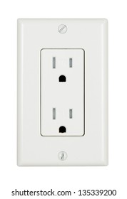A tamper resistant electrical outlet