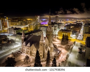 Tampere Cathedral (Tampereen tuomiokirkko in Finnish) is a Lutheran church in Tampere, Finland. The cathedral was built between 1902 and 1907 in national romantic style