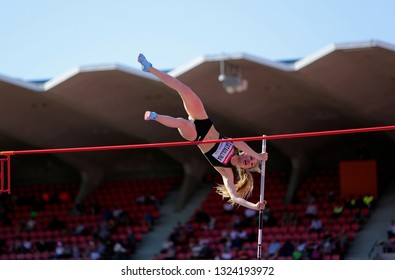 TAMPERE, FINLAND, July 10: AKSANA GATAULLINA (RUSSIA) on the pole vault event in the IAAF World U20 Championship Tampere, Finland 10 July, 2018.