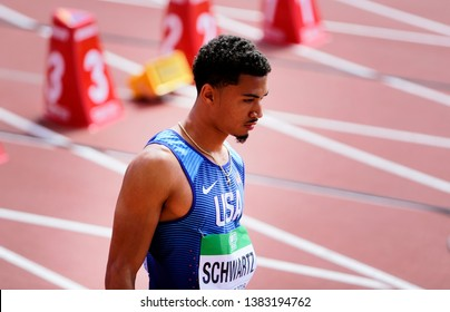 TAMPERE, FINLAND, July 10: ANTHONY SCHWARTZ from USA win silver medal in 100 metrs on the IAAF World U20 Championship in Tampere, Finland 10 July, 2018.