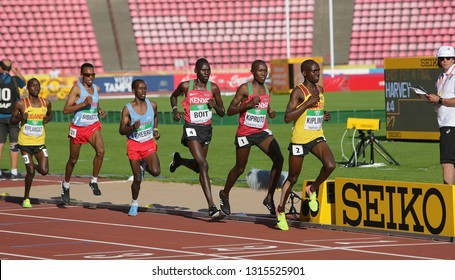 TAMPERE, FINLAND, July 10: Athletes in 10,000 meters at the IAAF World U20 Championships in Tampere, Finland on July 10, 2018.