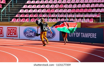 TAMPERE, FINLAND,  July 10: Beatrice Chebet from Kenya win first gold in 5000m at the IAAF World U20 Championships in Tampere, Finland on July 10, 2018.
