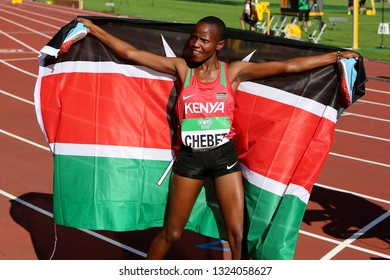 TAMPERE, FINLAND,  July 10: Beatrice Chebet from Kenya win first gold in 5,000m at the IAAF World U20 Championships in Tampere, Finland on July 10, 2018.