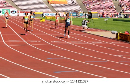 TAMPERE, FINLAND, July 10: HIMA DAS  (India) win gold medal in 400 metrs on the IAAF World U20 Championship in Tampere, Finland 10 July, 2018.