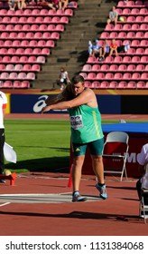 TAMPERE, FINLAND,  July 10: Kyle Blignaut from South Africa win gold medal in the shot put at the IAAF World U20 Championships in Tampere, Finland on July 10, 2018.