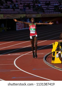 TAMPERE, FINLAND,  July 10: RHONEX KIPRUTO from Kenya win first gold in 10,000m at the IAAF World U20 Championships in Tampere, Finland on July 10, 2018.