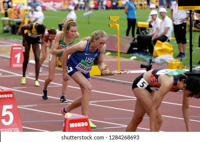 TAMPERE, FINLAND,  July 11: Athlets on start of the 800 METRES semi-final at the IAAF World U20 Championships in Tampere, Finland on July 11, 2018.