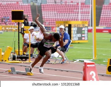 TAMPERE, FINLAND, July 11: CKHAMAL STEWART-BAYNES from CANADA run 400 metres in the IAAF World U20 Championship in Tampere, Finland 11 July, 2018.
