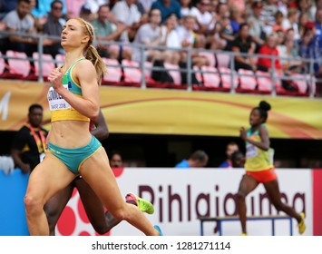 TAMPERE, FINLAND, July 11: ELLA CONNOLLY  from Australia run 400 metrs semi final on the IAAF World U20 Championship in Tampere, Finland 11 July, 2018